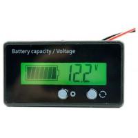 Akumulatora sprieguma un uzlādes līmeņa indikators, 12V LCD