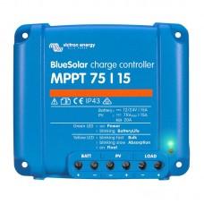 Uzlādes regulators Victron Energy MPPT 75V / 15A BlueSolar