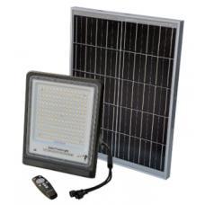 Atsevišķs LED gaismeklis LED ED100 (100W) + saules modulis (25W)